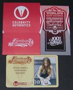 Kate Beckinsale Photo SIGNED IN PERSON Celebrity Authentics COA JSA PSA BAS GUAR