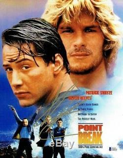 Keanu Reeves Point Break Autographed Signed 11x14 Photo Authentic BAS COA AFTAL