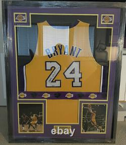 Kobe Bryant Autograph Signed Uda Upper Deck Authenticated Jersey Auto Framed