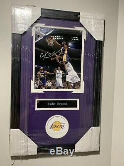 Kobe Bryant Autographed Signed 8x10 Framed Picture With COA PRISTINE