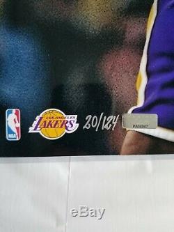 Kobe Bryant Signed 16x20 Photo Panini Authentic LE 20/124 NBA Autographed Lakers