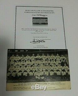 Legend Joe Dimaggio Yankee Clipper Authentic Signed 1939 Team Photo W Coa