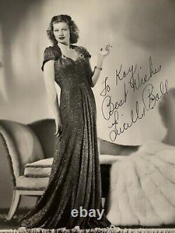 Lucille Ball Inscribed & Signed Silver Gelatin Glossy Photo I Love Lucy COA RKO
