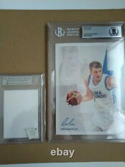 Luka Doncic autographed signed 5x7 photograph / card BGS Authenticated LE RC