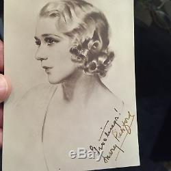 MARY PICKFORD VINTAGE AUTOGRAPHED PHOTO withLIFETIME AUTHENTICITY GUARANTEE