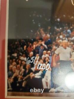 MICHAEL JORDAN UPPER DECK AUTHENTICATED FRAMED SIGNED 8X10 PHOTO #651 to 1200