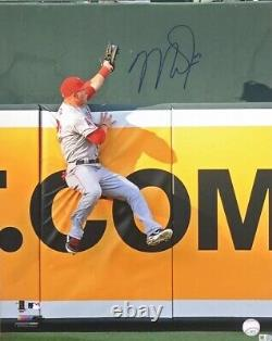 MIKE TROUT Autographed The Catch Angels 16x20 Signed Photo -MLB Authentic Holo