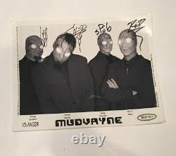 MUDVAYNE Full Band Autographed & Signed Photo Authentic Metal Rock Rare Hellyeah