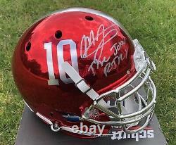 Mac Jones SIGNED Alabama CHROME Authentic Full Size Helmet JSA COA & Photo Proof
