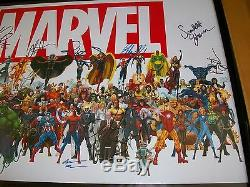 Marvel Authentic Cast Signed Framed 20x28 Poster With Exact Onsite Proof