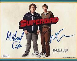 Michael Cera & Jonah Hill Dual Signed Superbad 8x10 Photo Jsa Authenticated
