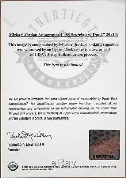 Michael Jordan Authentic Signed Framed 20x24 Photo Autographed UDA #BAM25534