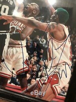 Michael Jordan/Dennis Rodman Autographed Signed 8x10 Photo Authentic Signatures