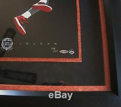 Michael Jordan Signed HOF Cradle Dunk 16x20 Framed UPD Authentic Limited 123