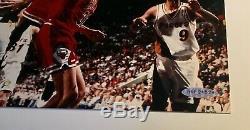 Michael Jordan autographed 45 layup 8 x 10 photo UDA authentic