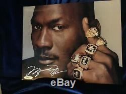 Michael Jordan autographed 6 Rings 8 x 10 photo UDA authentic