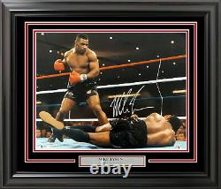 Mike Tyson Authentic Autographed Signed Framed 16x20 Photo Beckett Bas 191221