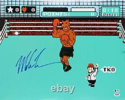 Mike Tyson Authentic Signed 16x20 Punch Out Photo Autographed BAS #U14319