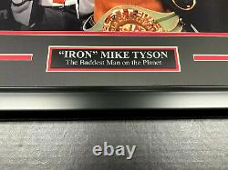 Mike Tyson BELTS SIGNED AUTHENTIC Autographed 16x20 Photo Framed BAS COA