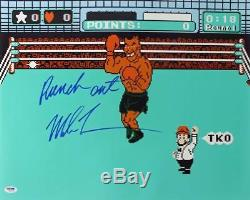 Mike Tyson'Punch Out' Signed Authentic 16X20 Photo Autographed PSA/DNA ITP