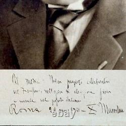 Mussolini Benito Italy Signed Document Photograph Autograph Manuscript Royalty