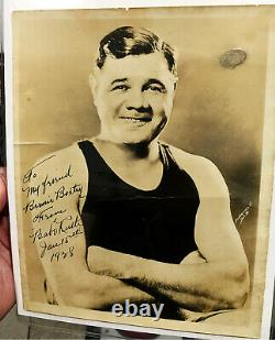 Original & Authentic 1928 Babe Ruth vintage signed-boldly autographed 8x10 photo