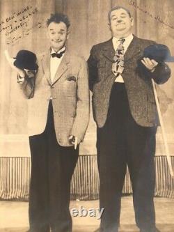 Original Authentic Autographed Laurel and Hardy Photograph
