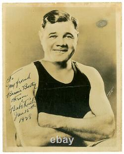 Original & Authentic Babe Ruth vintage signed Autographed photo from 1928
