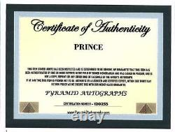 PRINCE- Music Singer Signed Autographed Photo with Certificate of Authenticity