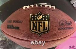 Randy Moss Autographed/Signed New England Patriots Authentic Wilson NFL Football