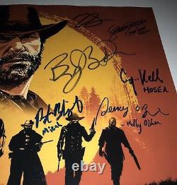 Roger Clark +11 Hand Signed 16x20 RED DEAD REDEMPTION 2 Authentic Auto JSA COA