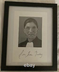 Ruth Bader Ginsburg Signed Photo! WITH JSA LETTER OF AUTHENTICITY Very Rare