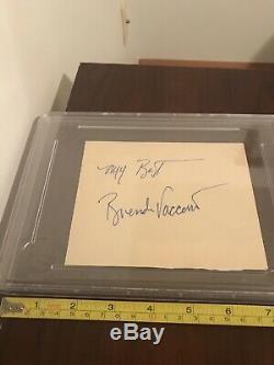 SEAN CONNERY James Bond LARGE SIGNED PSA/DNA Autographed Card AUTHENTIC VINTAGE