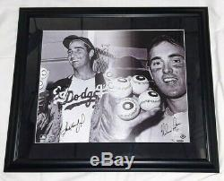 Sandy Koufax & Nolan Ryan Signed 16x20 Upper Deck Authenticated Autographed UDA