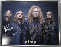 Signed Megadeth Autographed 11x14 Framed Certified Authentic Framed Jsa # V70303