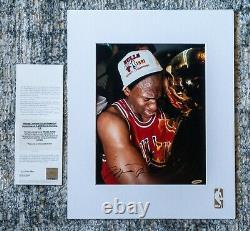 Signed Michael Jordan 1st NBA Finals Trophy Upper Deck Authenticated UDA