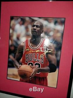 Signed Michael Jordan Auto Photo Autograph Gold Sharpie Genuine Authentic No Coa