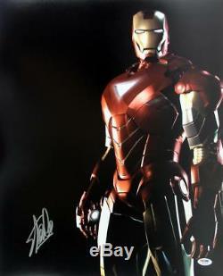 Stan Lee Authentic Signed Iron Man 16X20 Photo Marvel Comics PSA/DNA 7