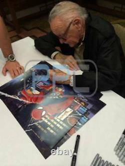 Stan Lee Authentic Signed Spider-Man 16X20 Photo Marvel Comics PSA/DNA 9