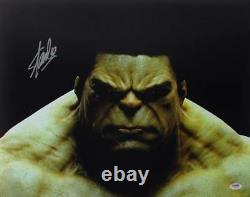 Stan Lee Authentic Signed The Hulk 16X20 Photo Marvel Comics Autograph PSA/DNA 1