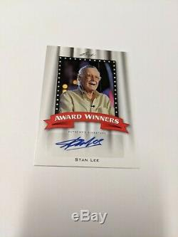 Stan Lee Autograph Autographed Card Authentic Signature Leaf Trading Cards Award