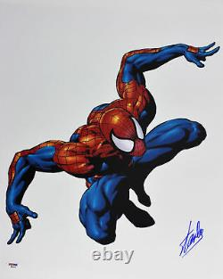 Stan Lee Marvel Authentic Signed 16x20 Photo Spider-Man PSA/DNA #W80221