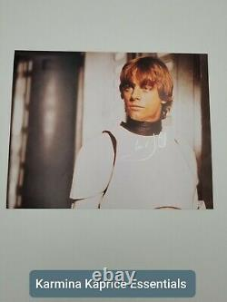 Star Wars Signed Mark Hamill Stormtrooper Gear 8×10 Certificate Of Authenticity