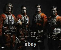 Star Wars Topps Authentics Rogue One Four Pilots Signed Group Image 10 x 8 Photo