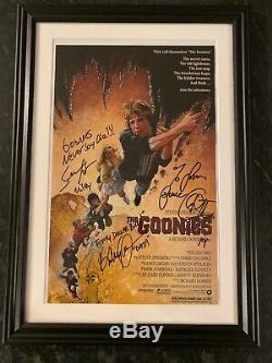 The Goonies Cast Signed Authentic Autograph Movie Poster WithCOA Astin, Feldman