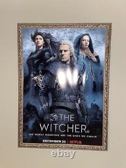 The Witcher Signed Poster 27x40 Authentic Autograph WithCOA Henry Cavill