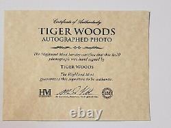 Tiger Woods Signed & Framed 8x10 Photo Autographed PGA Online Authentics COA