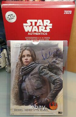 Topps Star Wars Authentics 2020 Autographed 11x17 Felicity Jones Jyn Erso 52/99