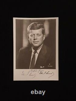 US President John F. Kennedy Signed Photo JFK Autograph Photograph Signature USA