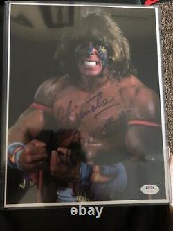 Ultimate Warrior 8.5x11Autographed Photo WWF WWE PSA Authenticated